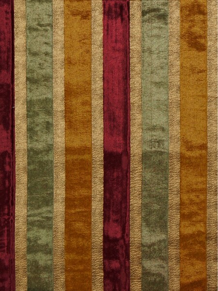 Maia Luxurious Stripe Velvet Fabric Sample (Color: Burgundy)