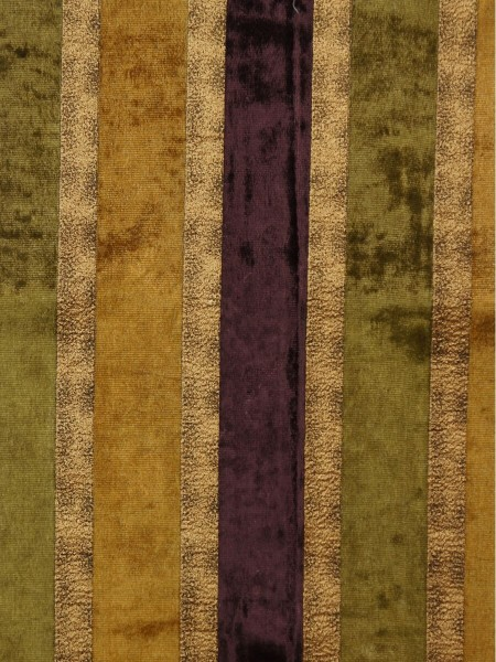 Maia Luxurious Stripe Velvet Fabric Sample (Color: Byzantium)