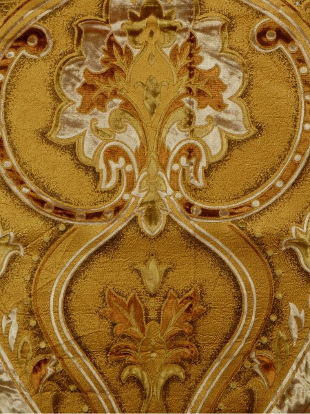Maia Soft Damask Velvet Fabric Sample (Color: Gold)