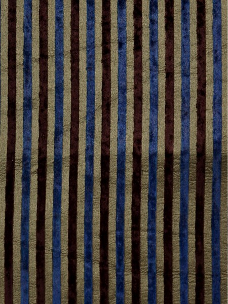 Maia Lush Stripe Velvet Fabric Sample (Color: Gold)