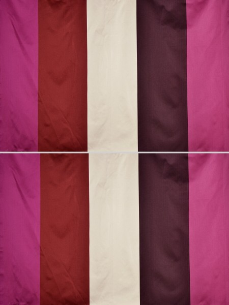 Silver Beach Bold Stripe Faux Silk Fabric Sample (Color: Cardinal)