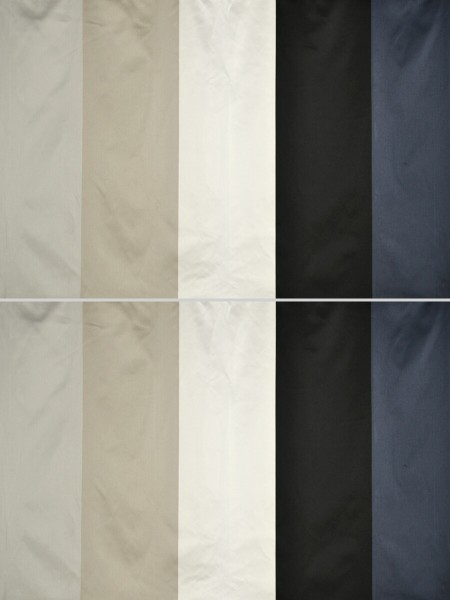 Silver Beach Bold Stripe Faux Silk Fabric Sample (Color: Ecru)