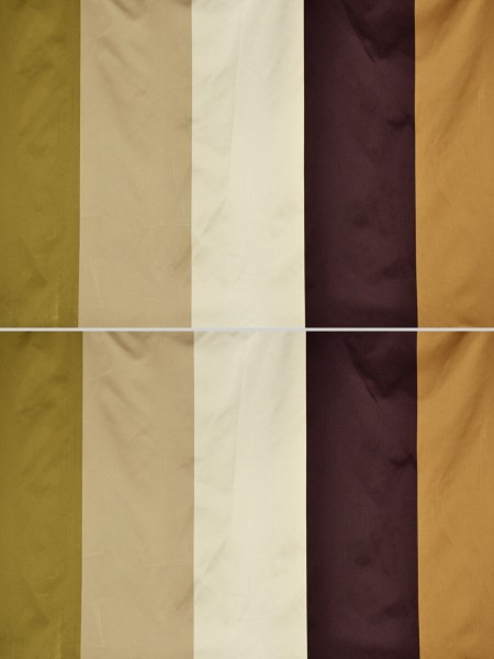 Silver Beach Bold Stripe Faux Silk Fabric Sample (Color: Fallow)