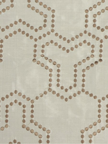 Halo Embroidered Simple Spots Dupioni Silk Custom Made Curtains (Color: Eggshell)
