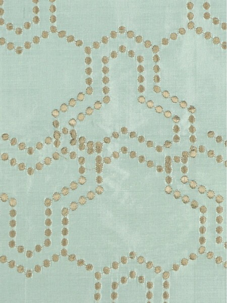 Halo Embroidered Simple Spots Dupioni Silk Custom Made Curtains (Color: Magic mint)