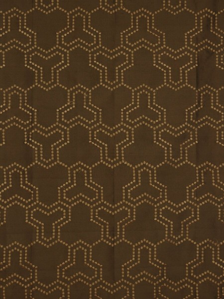 Halo Embroidered Simple Spots Dupioni Silk Custom Made Curtains (Color: Chocolate)