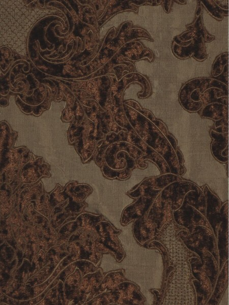 Rainbow Embroidered Damask Dupioni Custom Made Curtains (Color: Brown)