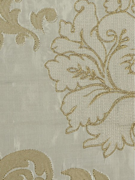 Rainbow Embroidered Classic Damask Dupioni Custom Made Curtains (Color: Beige)