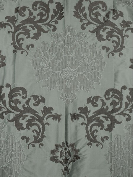 Rainbow Embroidered Classic Damask Dupioni Custom Made Curtains (Color: Cadet grey)