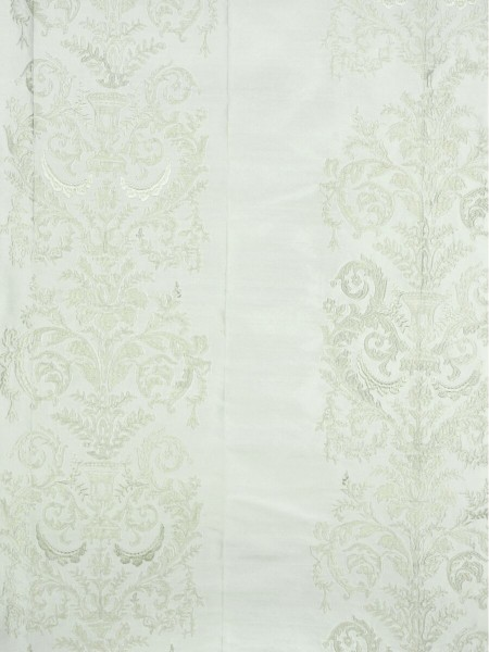 Rainbow Embroidered Classic Damask Grommet Dupioni Silk Curtains (Color: Ivory)