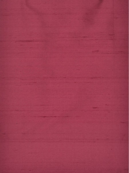 Oasis Solid-color Grommet Dupioni Silk Curtains (Color: Cerise)