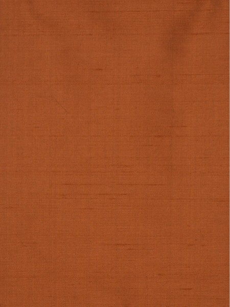Oasis Solid Orange Dupioni Silk Custom Made Curtains (Color: Burnt orange)