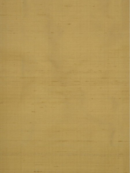Oasis Solid Yellow Dupioni Silk Fabric Sample (Color: Camel)