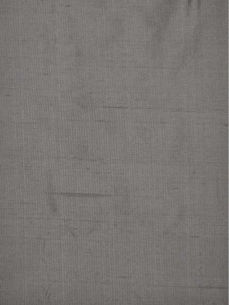 Oasis Solid Gray Dupioni Silk Custom Made Curtains (Color: Gray)