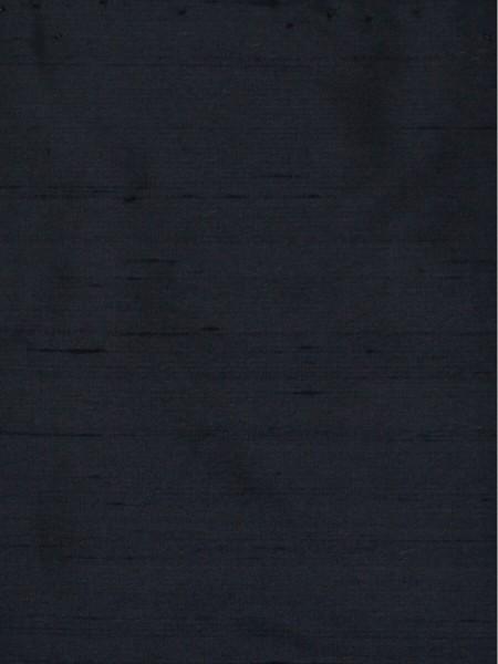 Oasis Solid Dark Dupioni Silk Fabric Sample (Color: Cool black)