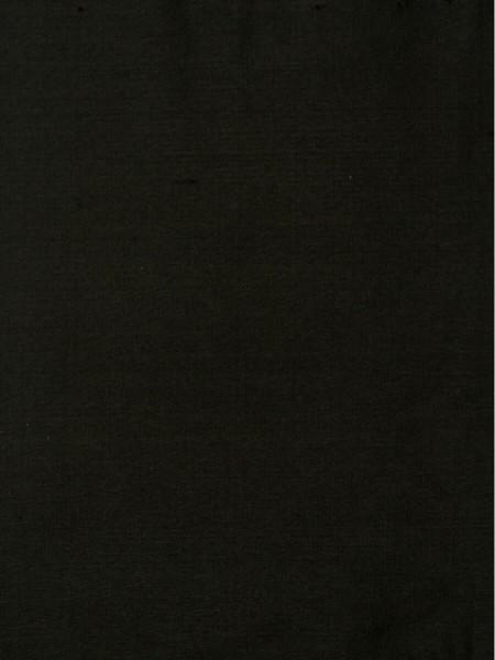 Oasis Solid Dark Dupioni Silk Fabric Sample (Color: Black)