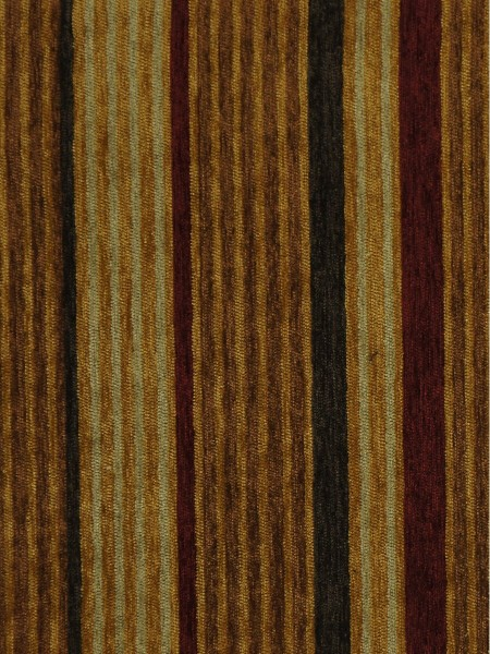 Petrel Heavy-weight Stripe Eyelet Chenille Curtains (Color: Brown)