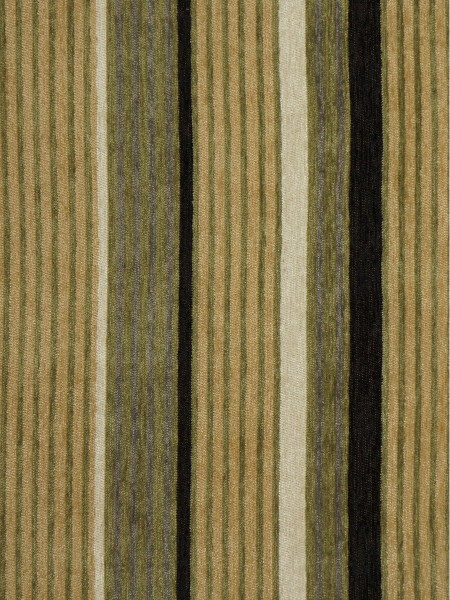 Petrel Heavy-weight Stripe Chenille Custom Made Curtains (Color: Desert)
