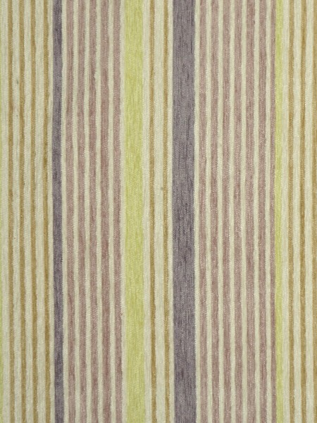 Petrel Heavy-weight Stripe Eyelet Chenille Curtains (Color: Thistle)