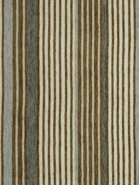 Petrel Heavy-weight Stripe Chenille Custom Made Curtains (Color: Fallow)