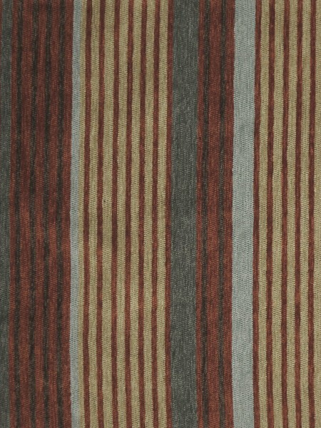 Petrel Heavy-weight Stripe Chenille Custom Made Curtains (Color: Rust)