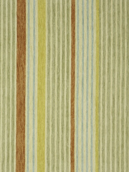Petrel Heavy-weight Stripe Eyelet Chenille Curtains (Color: Pear)