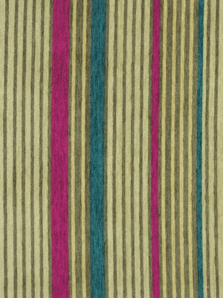 Petrel Heavy-weight Stripe Chenille Custom Made Curtains (Color: Straw)