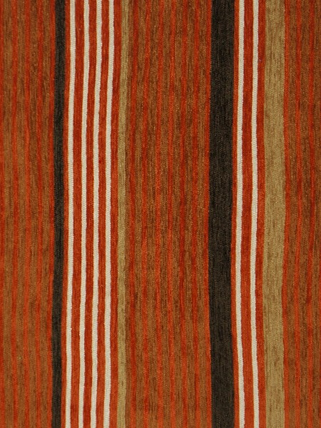 Petrel Heavy-weight Stripe Chenille Custom Made Curtains (Color: Venetian red)
