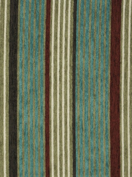 Petrel Heavy-weight Stripe Chenille Custom Made Curtains (Color: Teal)