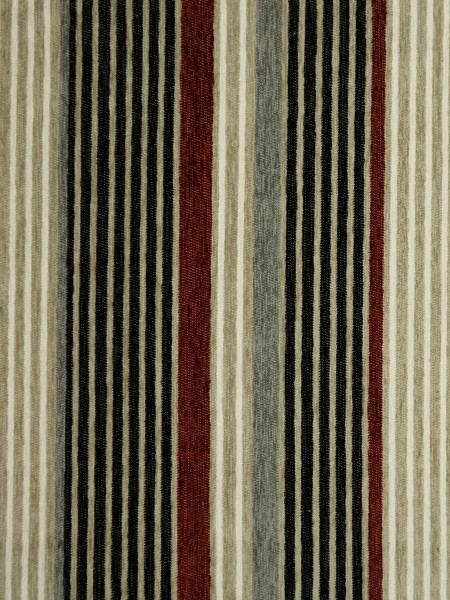 Petrel Heavy-weight Stripe Chenille Custom Made Curtains (Color: Black)