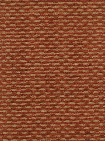 Coral Spots Yarn-dyed Chenille Fabric Sample (Color: Tangelo)