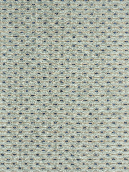 Coral Stylish Spots Chenille Custom Made Curtains (Color: Light blue)