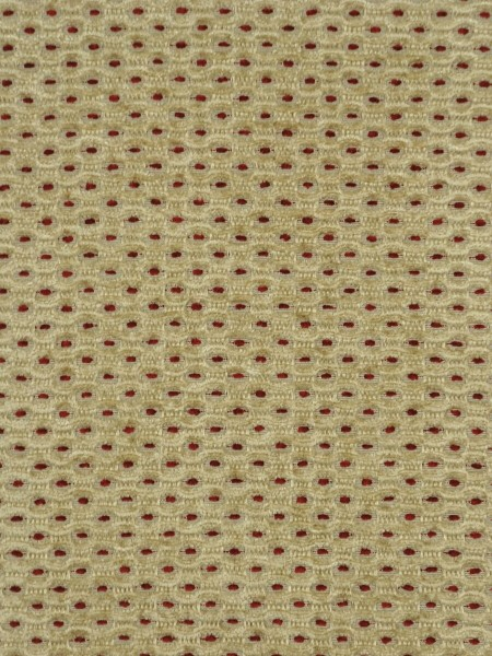 Coral Regular Spots Versatile Pleat Chenille Curtains (Color: Blond)