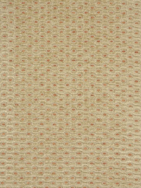 Coral Regular Spots Back Tab Chenille Curtains (Color: Vanilla)