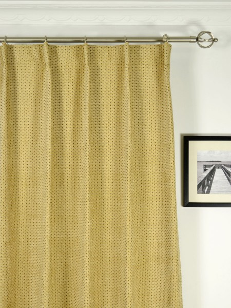 Coral Regular Spots Single Pinch Pleat Chenille Curtains Heading Style