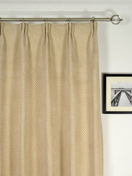 Coral Elegant Chenille Custom Made Curtains (Heading: Versatile Pleat)
