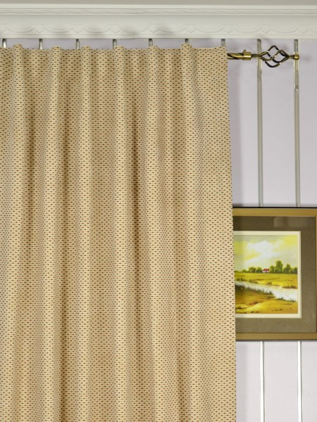 Coral Elegant Chenille Custom Made Curtains (Heading: Back Tab)