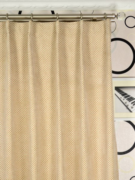 Coral Elegant Single Pinch Pleat Chenille Curtains Heading Style