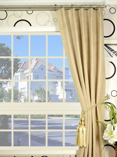 Coral Elegant Single Pinch Pleat Chenille Curtains