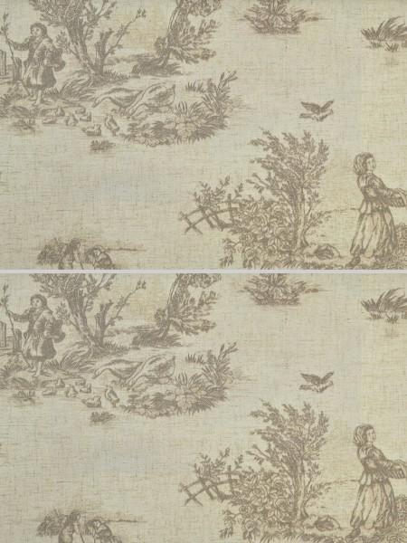 Eos Farm Girl Printed Faux Linen Custom Made Curtains (Color: Dark Medium Gray)