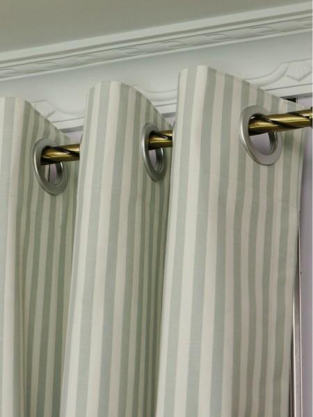 Modern Narrow Striped Cotton Blend Blackout Grommet Ready