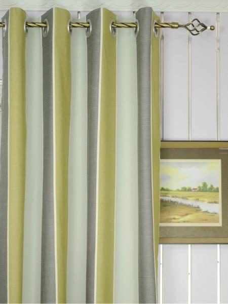 Modern Wide Striped Blackout Cotton Blend Custom Made