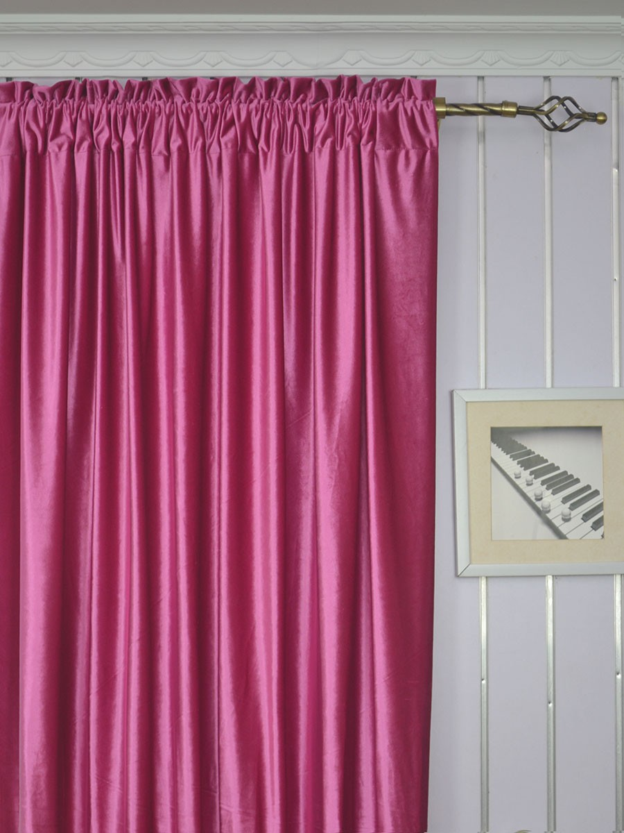 63 Inch 96 Inch Whitney Pink Red And Purple Blackout Grommet Velvet Curtains Cheerycurtains