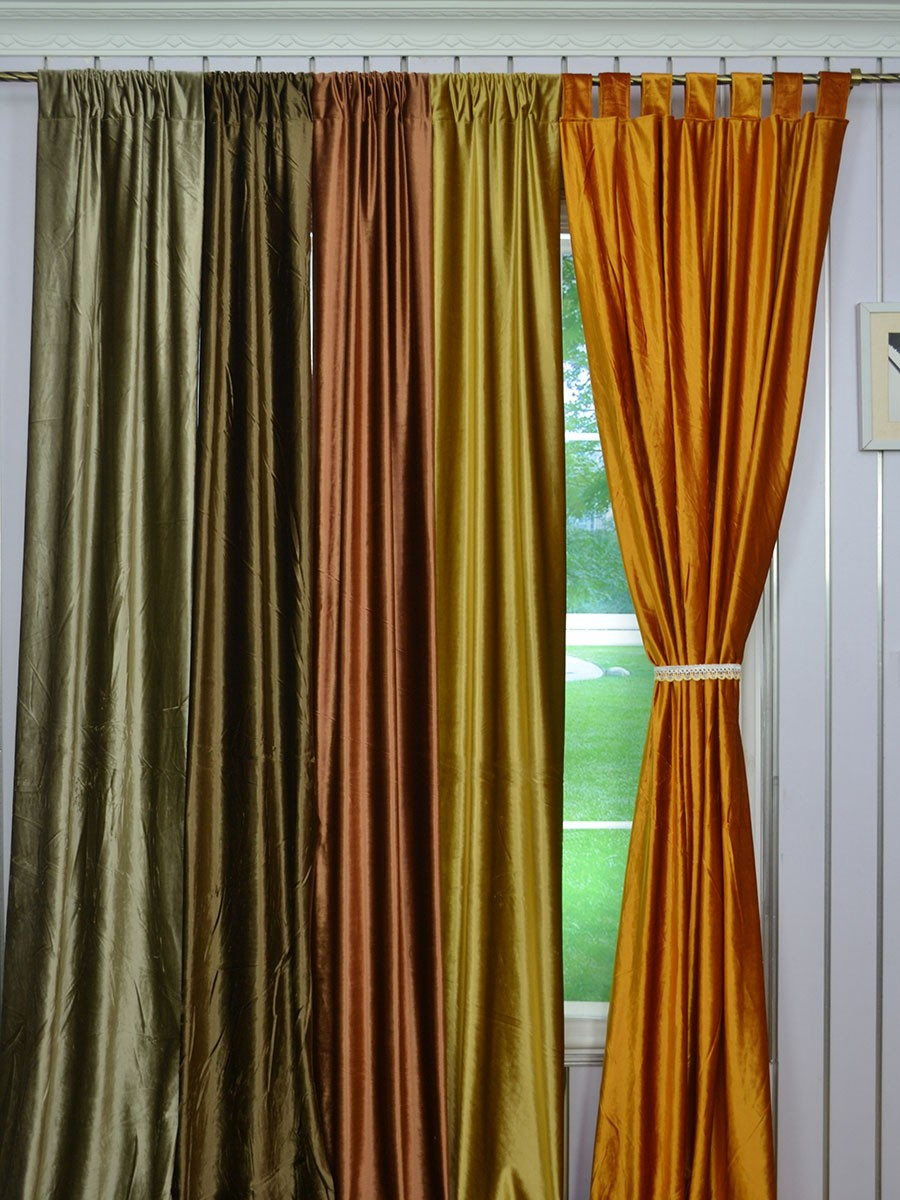 Design Velvet Curtains whitney brown solid blackout grommet velvet curtains 63 inch 96 cheerycurtains