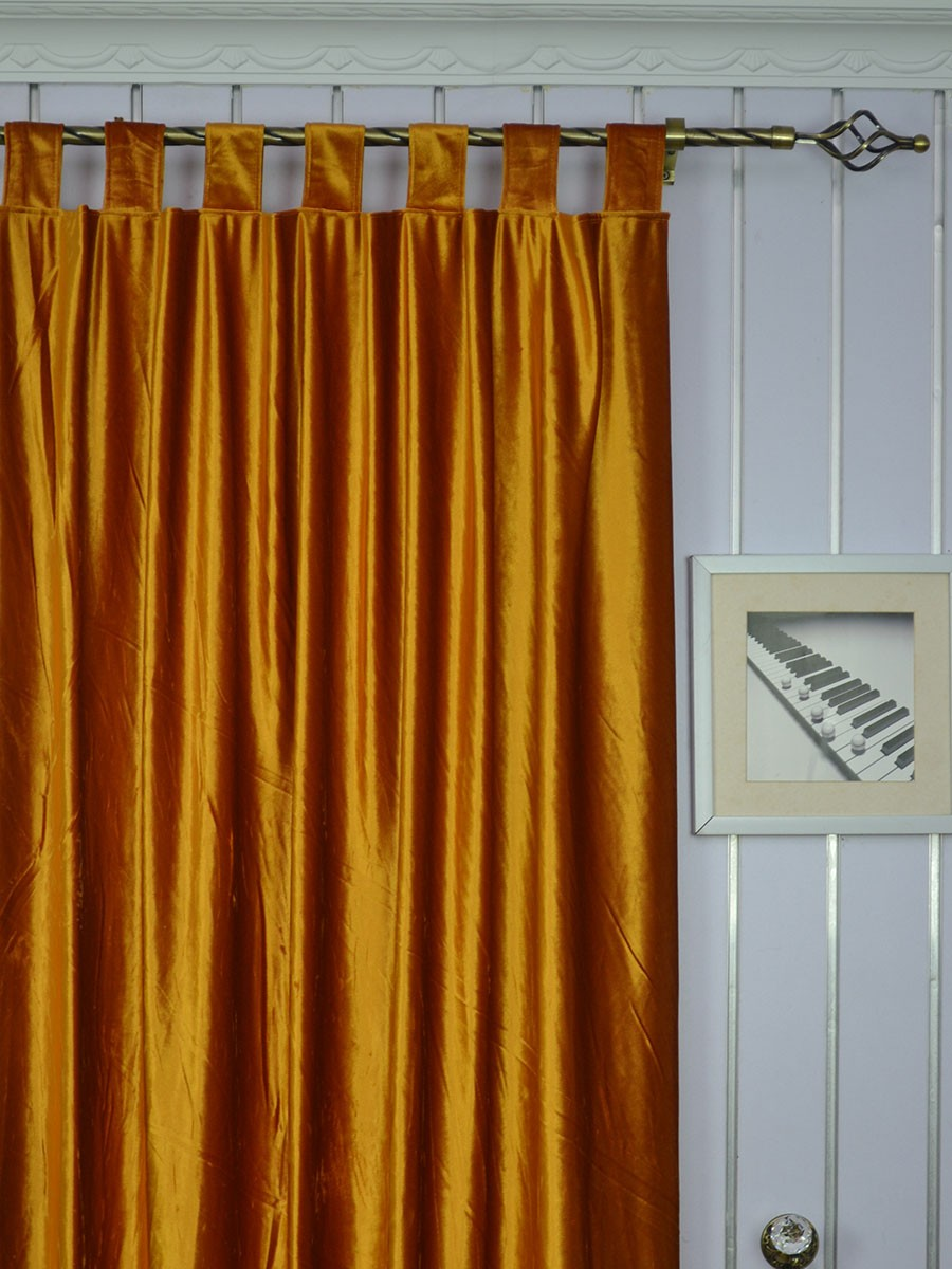 Whitney Brown Solid Blackout Grommet Velvet Curtains 63