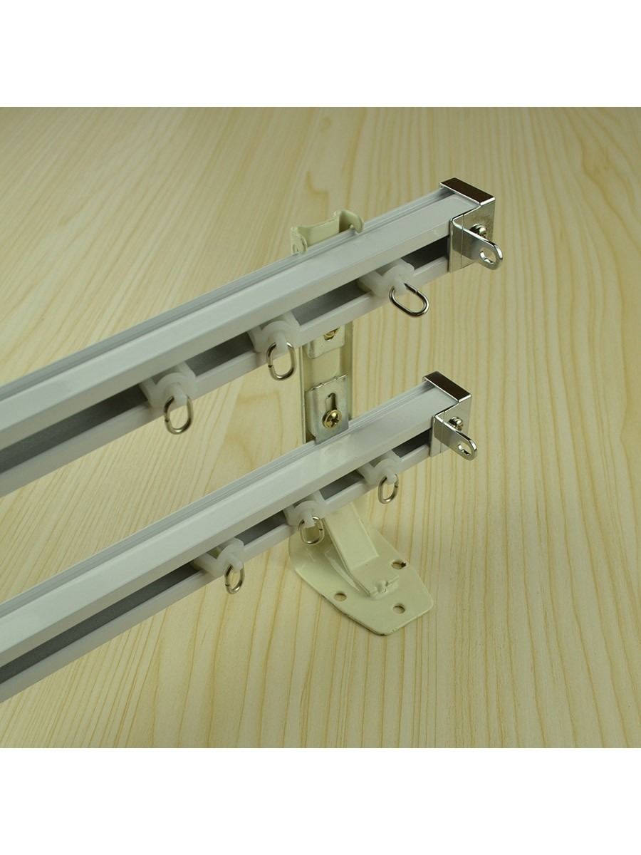 Chr7722 Ceiling Mounted Or Wall Mounted Double Curtain Tracks And Rails Cheery Curtains