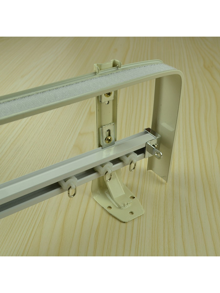 Chr7725 Wall Mounted Double Curtain Tracks And Rails With
