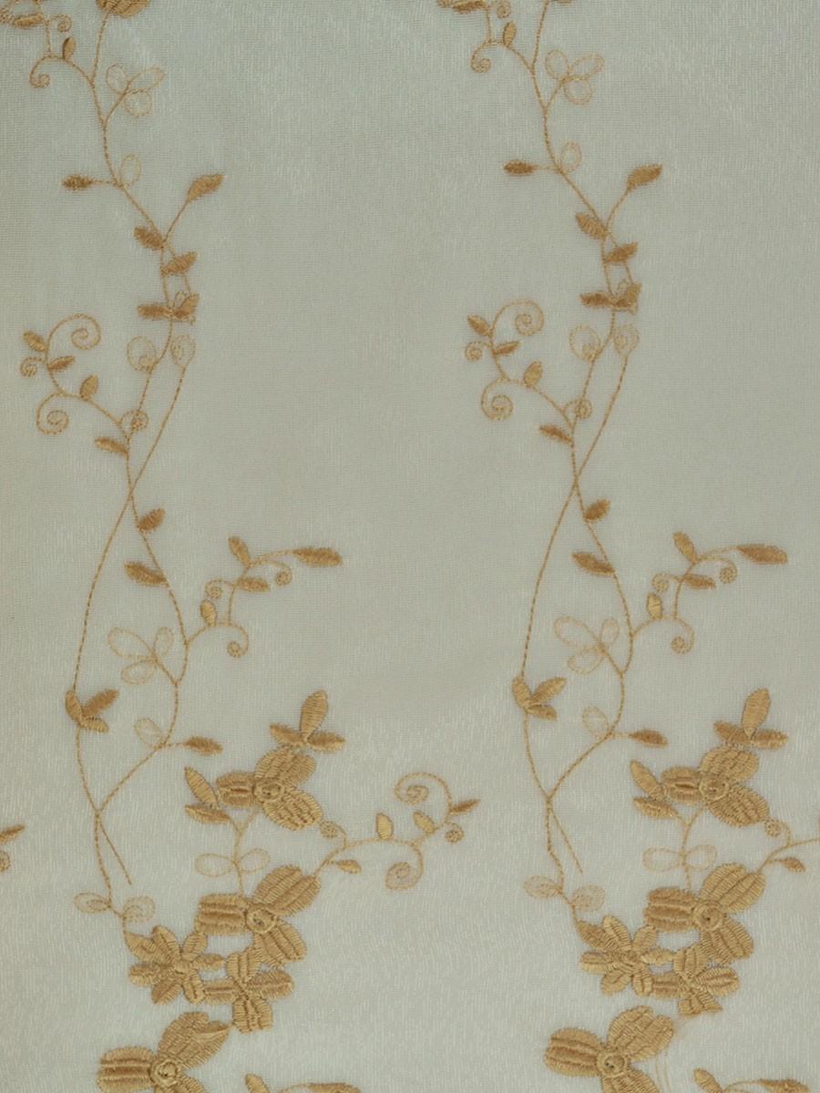 Elbert Vine Leaves Embroidered Custom Made Sheer Curtains
