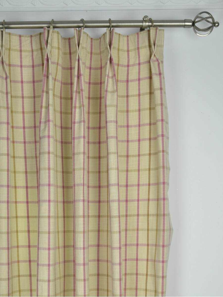 Small Plaid Blackout Double Pinch Pleat Extra Long