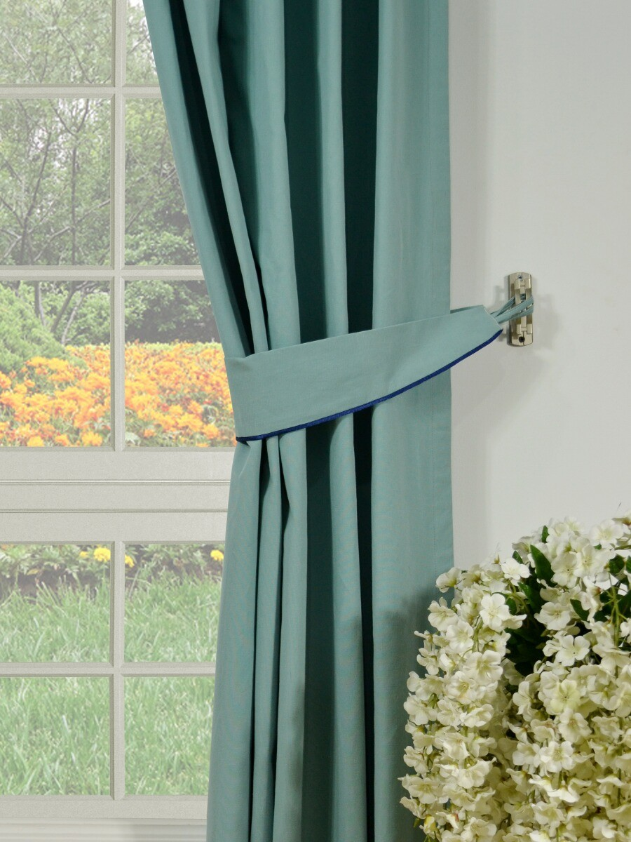Moonbay Plain Double Pinch Pleat Cotton Extra Long Curtains 108 120 Inch Panel Cheery Curtains